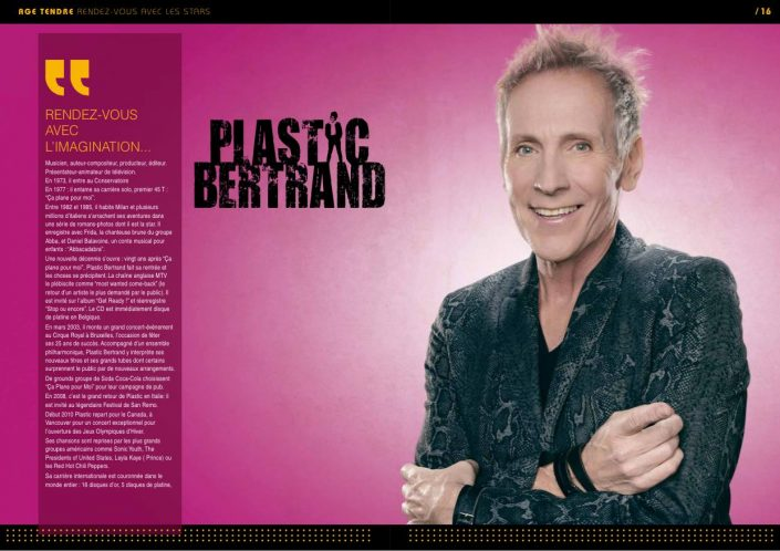 Plastic Bertrand - Age Tendre et Tête de Bois 2015