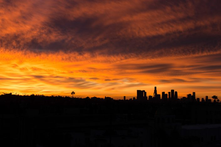 sunrise on Los Angeles