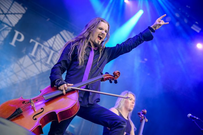 Apocalyptica plays at the Download Festival Paris - 2016