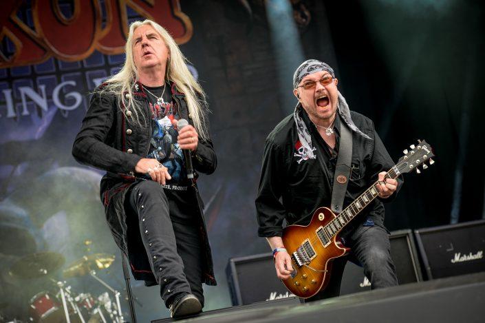 Saxon plays at the Download Festival Paris - 2016