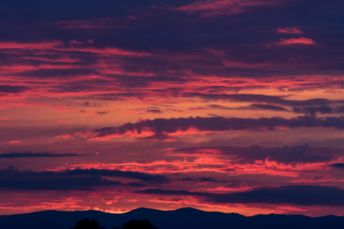 Sunset over Geneva, Switzerland