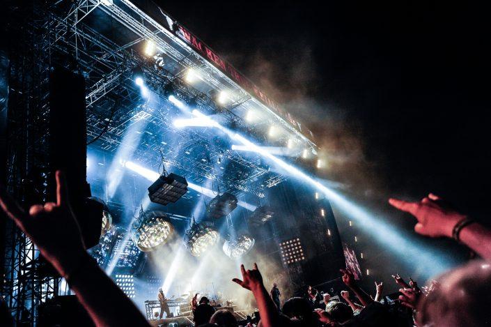 Rammstein plays at the Wacken Open Air 2013