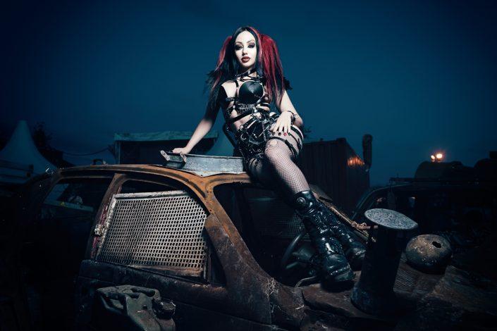 International rock and alternative model Dani Divine by Julien ZANNONI
