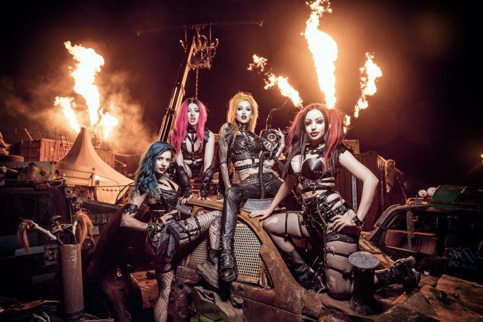 Fireshow band Pyrohex by Julien ZANNONI