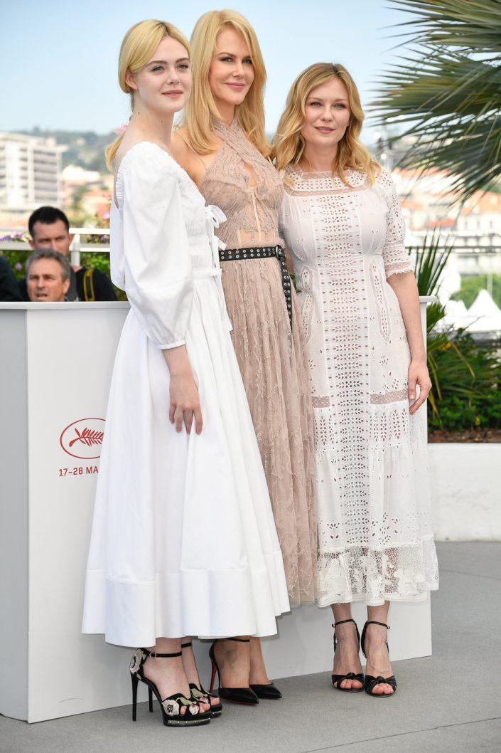 Elle Fanning, Nicole Kidman, Kirsten Dunst - Cannes 2017