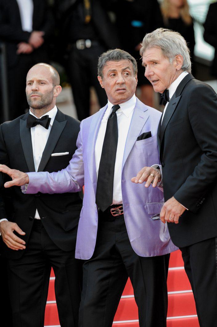 Jason Statham, Sylvester Stallone, Harrison Ford - Cannes 2014