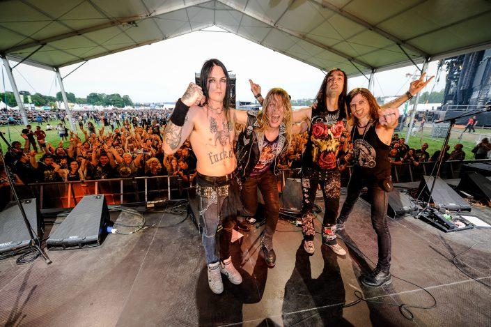 Blackrain plays at the Download Festival Paris - 2016