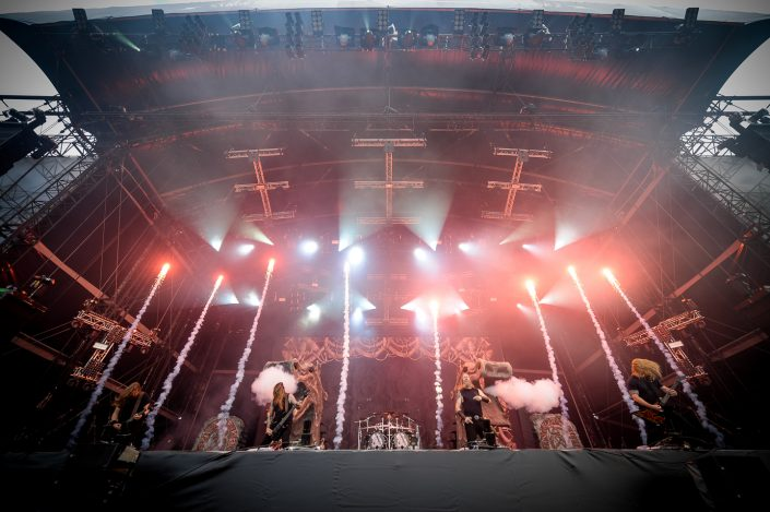 Amon Amarth plays at the Download Festival Paris - 2016