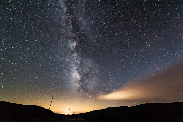 Astrophotography near Stovepipe Wells, Death Valley desert, California, USA