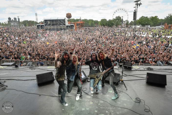 Blackrain sur la scène du Hellfest Open Air 2019 à Clisson (France)