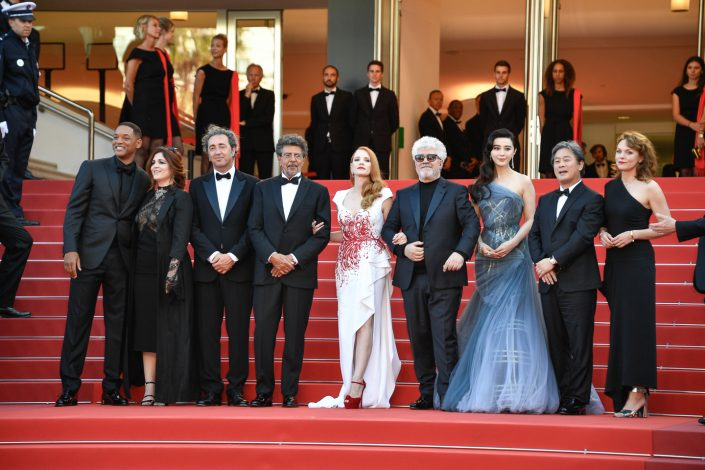 Jury Cannes 2017 - Pedro ALMODÓVAR, Maren ADE, Jessica CHASTAIN, FAN Bingbing, Agnès JAOUI, PARK Chan-wook, Will SMITH, Paolo SORRENTINO, Gabriel YARED