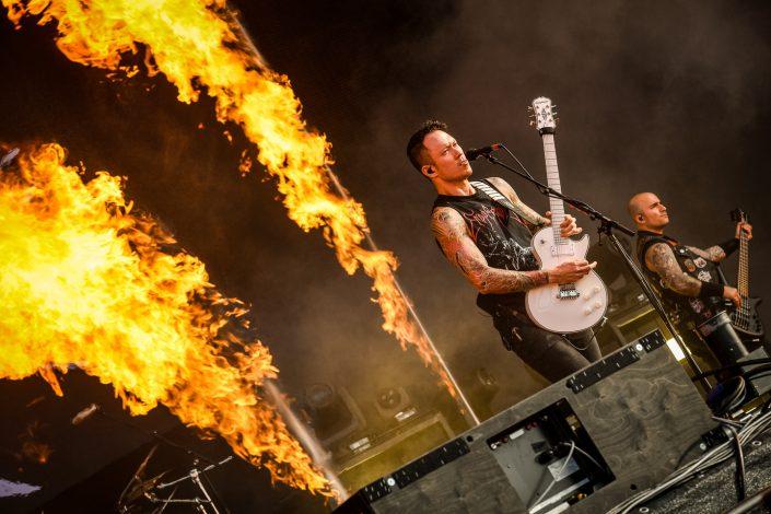 Trivium plays at Wacken Open Air 2017