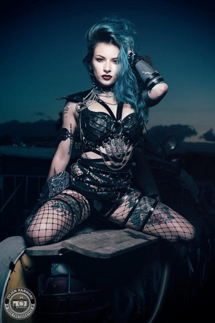 Rock model Rebecca Crow by Julien ZANNONI