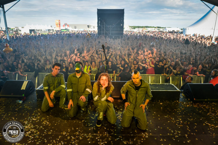 Ultra Vomit plays at the Download Festival Paris - 2018