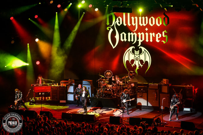 The Hollywood Vampire's plays at the Montreux Jazz Festival 2018