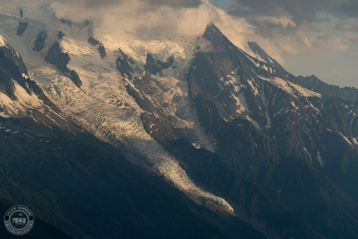 Aiguille du midi and Mont Blanc in the valley of Chamonix from Tête de Balme in 2018