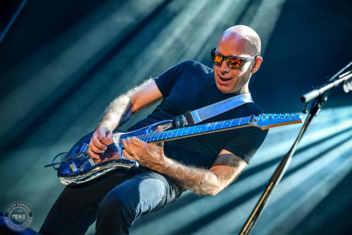 Joe Satriani plays at the Guitare en Scène Festival 2018