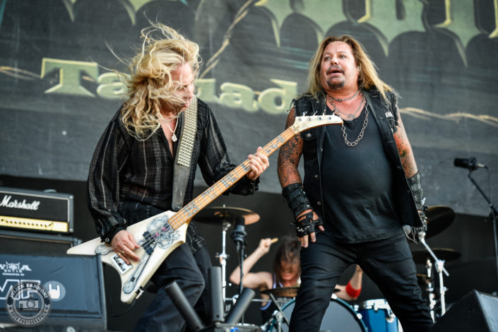 Vince Neil is seen on stage during Wacken Open Air 2018 (Germany)