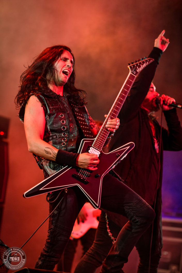 Firewind is seen on stage during Wacken Open Air 2018 (Germany)