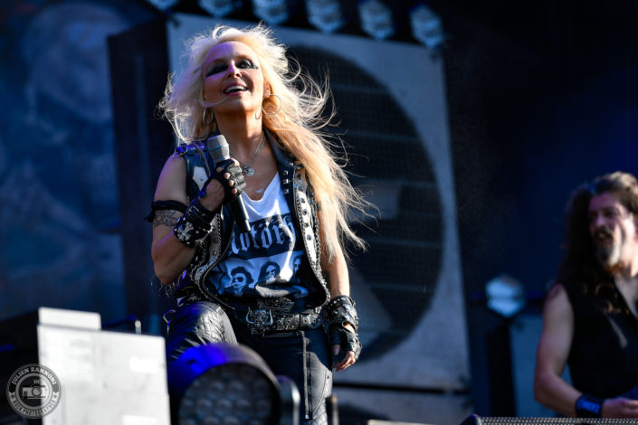 Doro is seen on stage during Wacken Open Air 2018 (Germany)