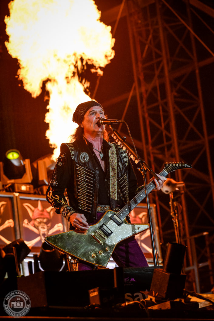 Running Wild is seen on stage during Wacken Open Air 2018 (Germany)