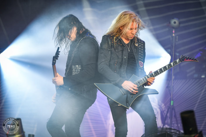 Arch Enemy is seen on stage during Wacken Open Air 2018 (Germany)