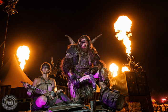 Photoshoot with Wasteland Warriors at Wacken 2018
