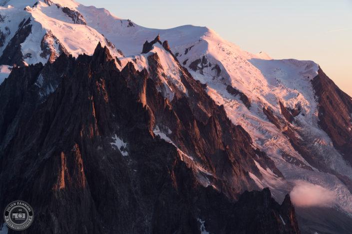 Sunset on the Mont Blanc range