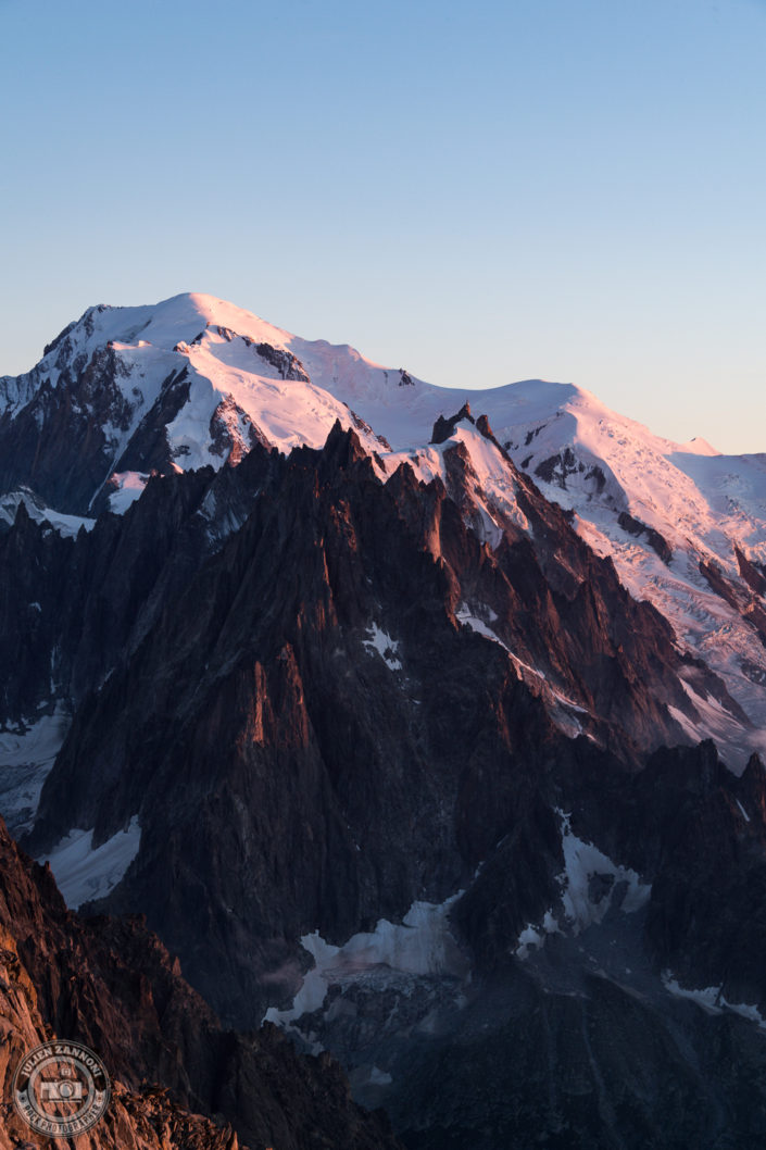 Sunset on the Mont Blanc range