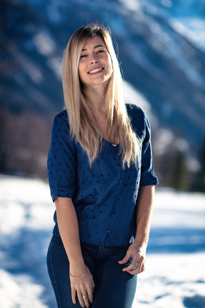 Photoshoot with Marilou Roubaud in Chamonix