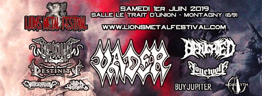 Affiche du Lions Metal Festival 2019