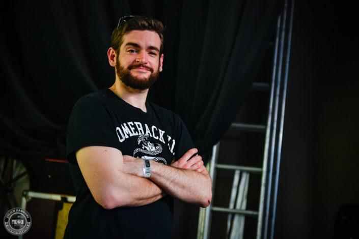 David du groupe Destinity au Lions Metal Festival 2019 à Montagny