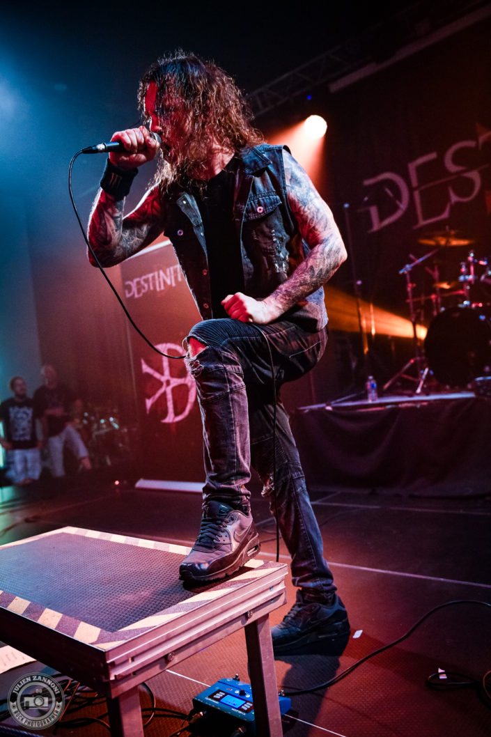 Destinity sur la scène du Lions Metal Festival 2019 à Montagny